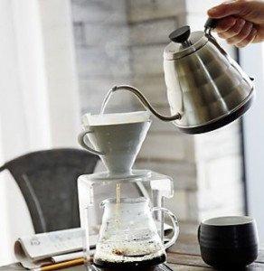 drip brew coffee pour