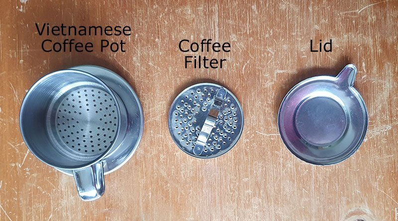 Vietnamese Coffee Maker Phin Parts