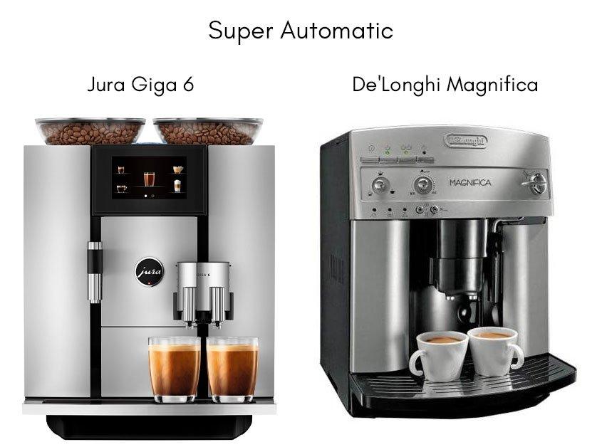 examples of super automatic espresso machines